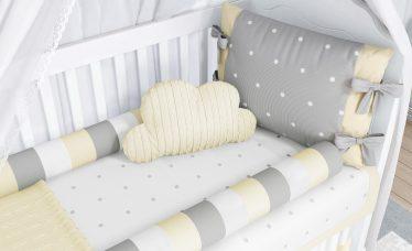 quarto de bebê com tricot