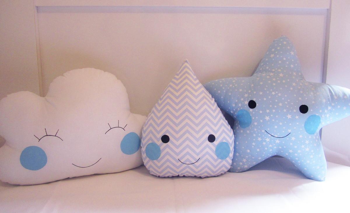 almofadas-nuvem-gota-estrela-em-azul-decoracao-nuvem