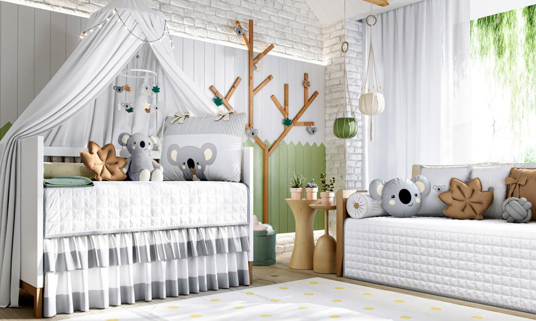 quarto de bebê coala