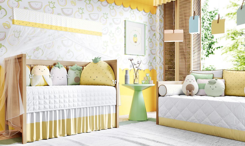 quarto de bebê frutinhas amarelo
